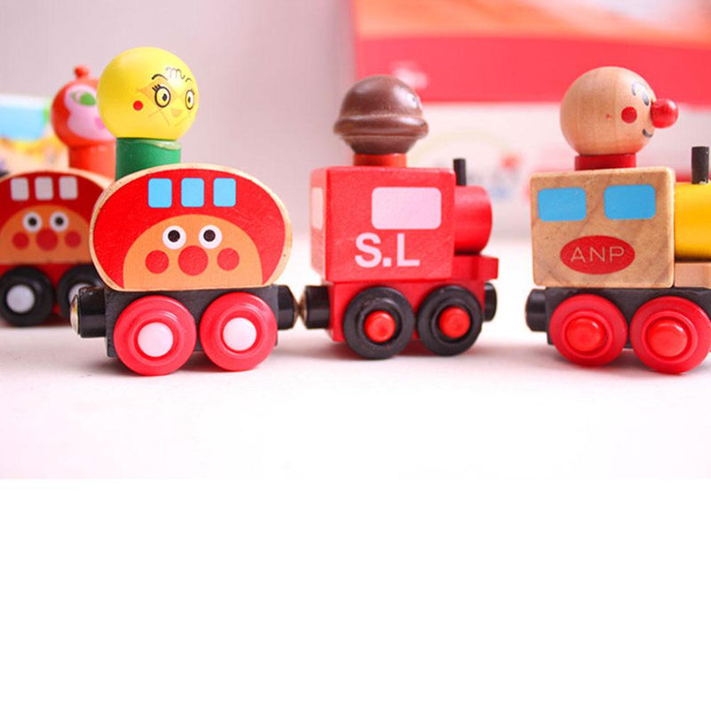 Magnetic Van For Carrying People Children Wooden Train Toy Sunshine China