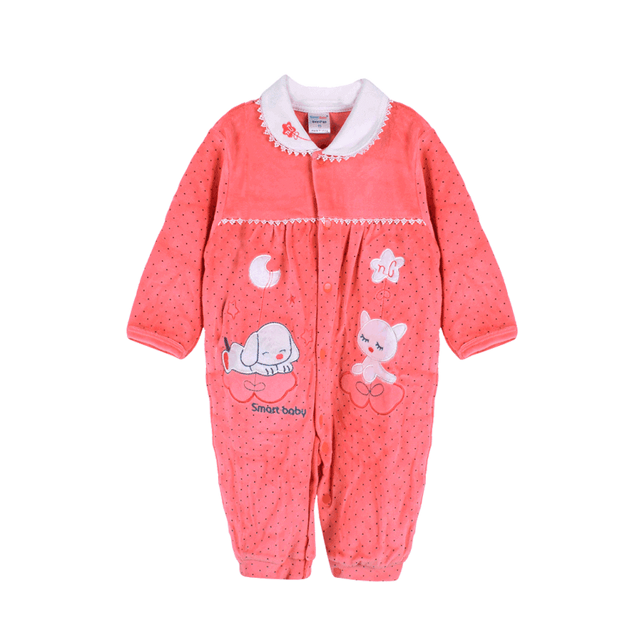 Smart Baby Puppy Long Sleeve Romper - ExportLeftovers.com