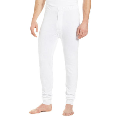 RGT Men's Classic Thermal Pants Men's Sweat Pants Image White S