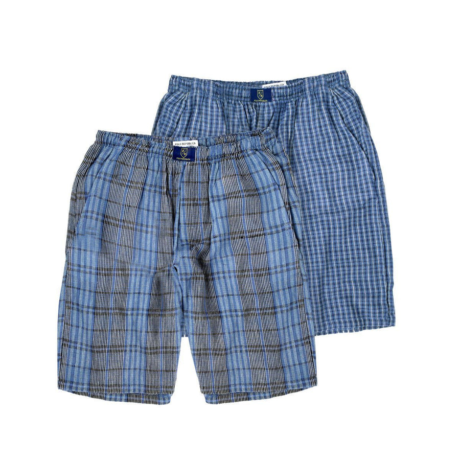 Polo Republica Pack of 2 Comfort Cotton Woven Shorts - ExportLeftovers.com