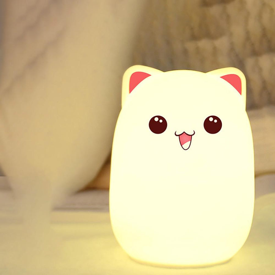 Cute Bud Bear Silicone Color Changing Lamp
