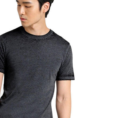 Topman Burnout Longline Crew Neck Tee Shirt