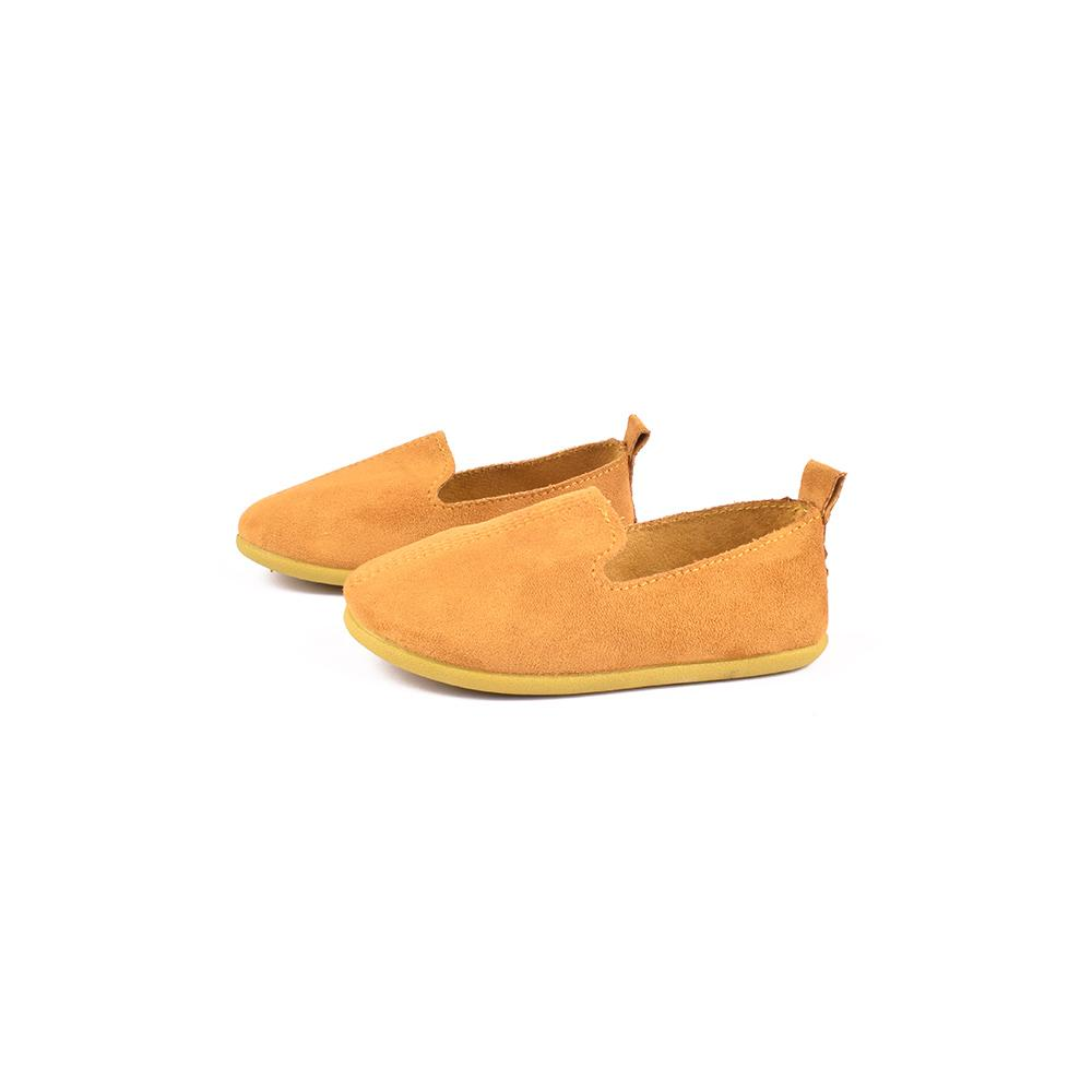 Hblhang Suede Fabric Soft Sole Kids Shoes Boy's Shoes Sunshine China Mustard EUR 19
