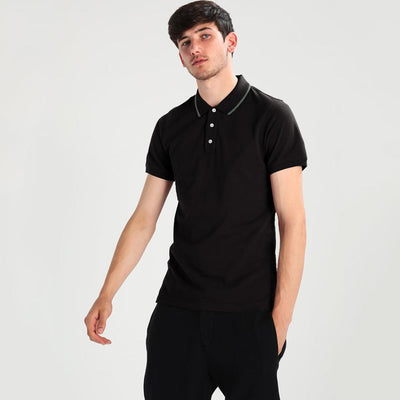 Polo Republica Basic Tipping Short Sleeve Polo Shirt Men's Polo Shirt Polo Republica Black XS