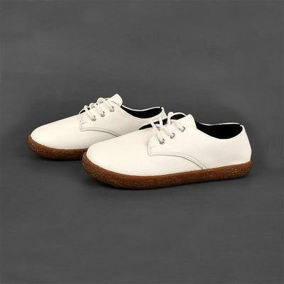 YY&CC Women's PU Leather Lace Up Shoes Women's Shoes Sunshine China White EUR 35