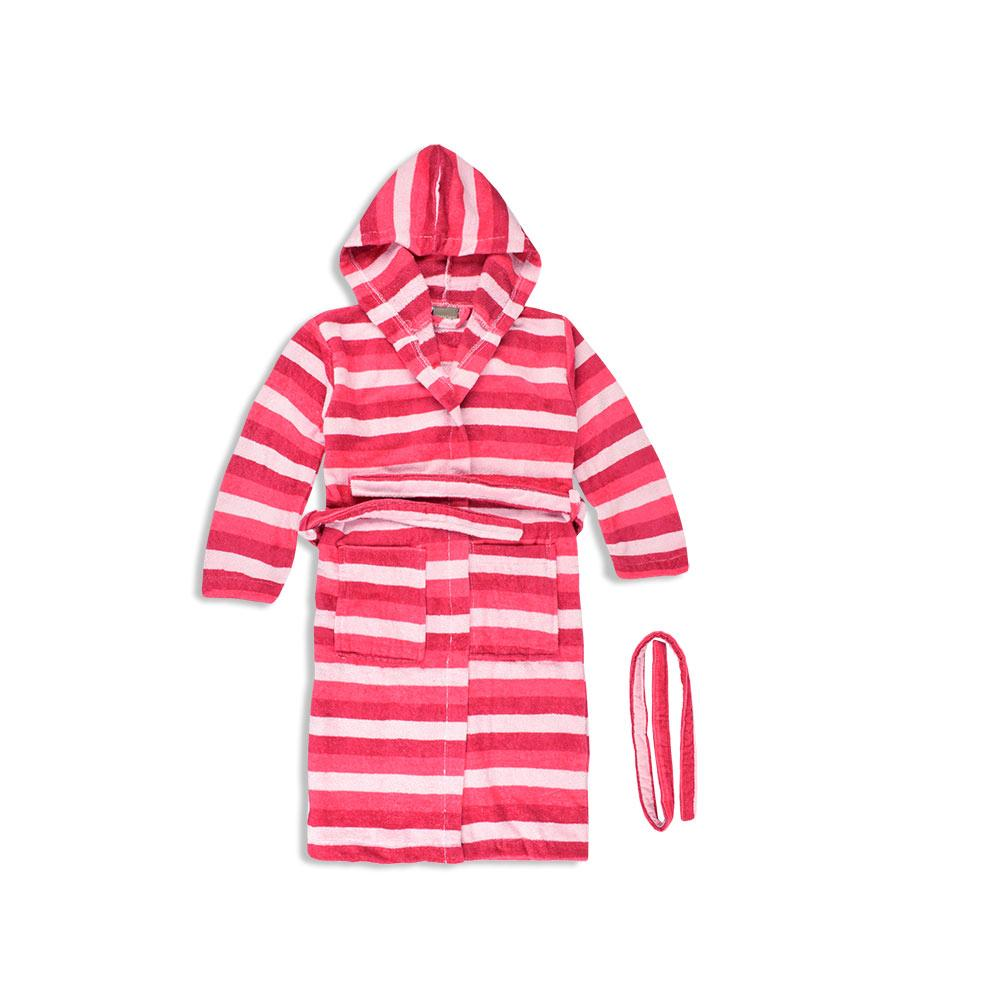 Croff Bodrene Kids Striper Hooded Bathrobe Bathrobe First Choice One Size