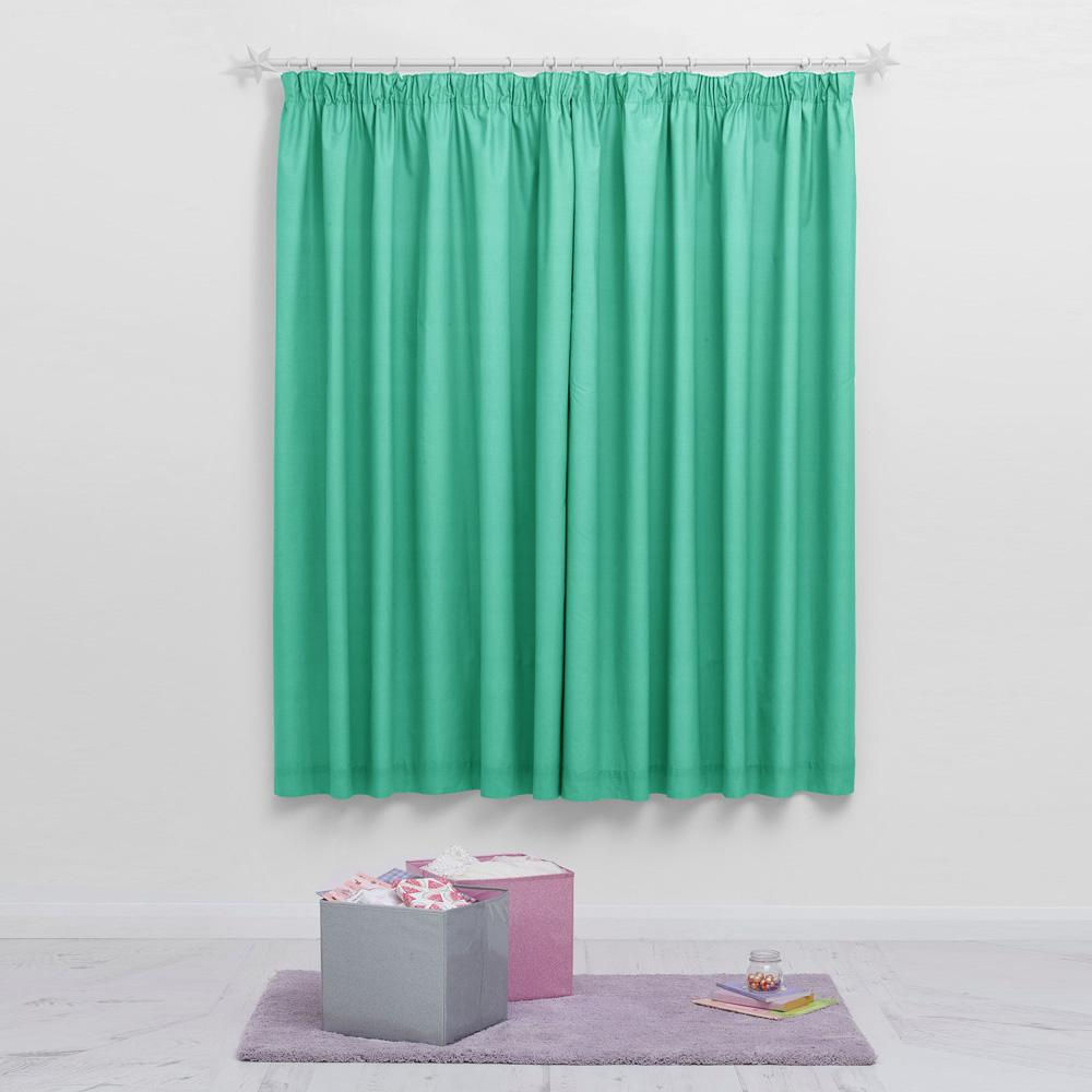Next Serene Style One Piece Pocket Curtain Curtain MB Traders Turquoise W-46 x L-54 Inches