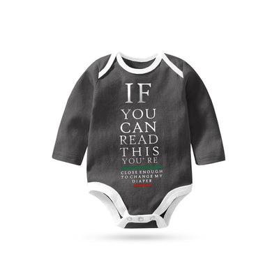 Polo Republica If You Can Long Sleeve Baby Romper Babywear Polo Republica Graphite White 0-3 Months