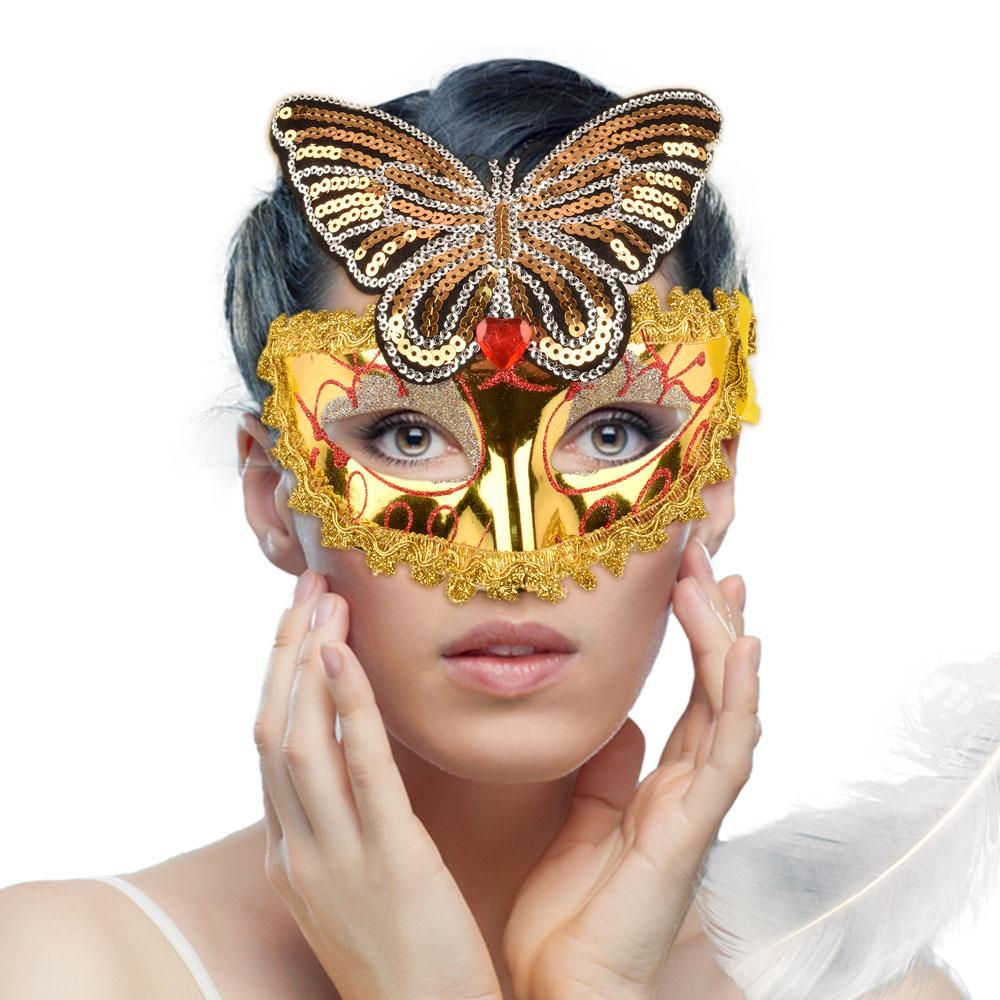 Women's Butterfly Party Face Mask Face Mask CPUQ