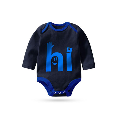 Polo Republica Hello Long Sleeve Baby Romper Babywear Polo Republica Navy Royal 0-3 Months
