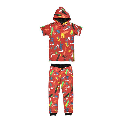 Panyc Damascus Short Sleeve Track Suit Boy's Sweat Shirt Paragon 4 Years