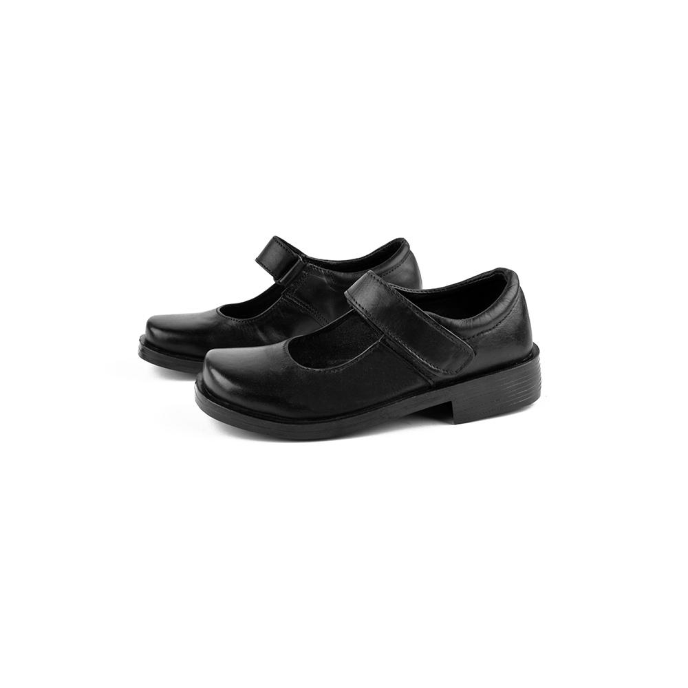Nemo Genuine Leather Velcro Girls School Shoes Girl's Shoes KMZ Black EUR 28