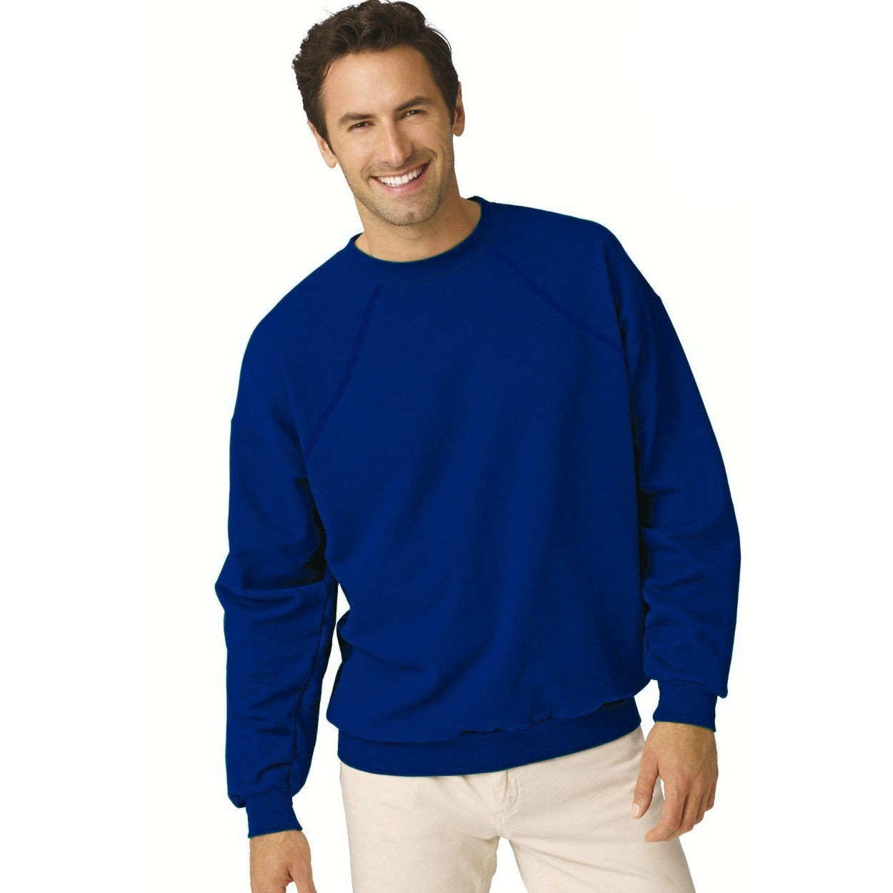 Demy Long Sleeve Crew Neck Sweat Shirt Men's Sweat Shirt Image Royal L