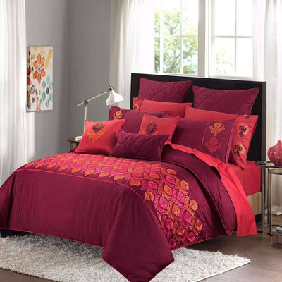 Araish Urban Intimacy Embroidered 6 Pcs Bedding Set