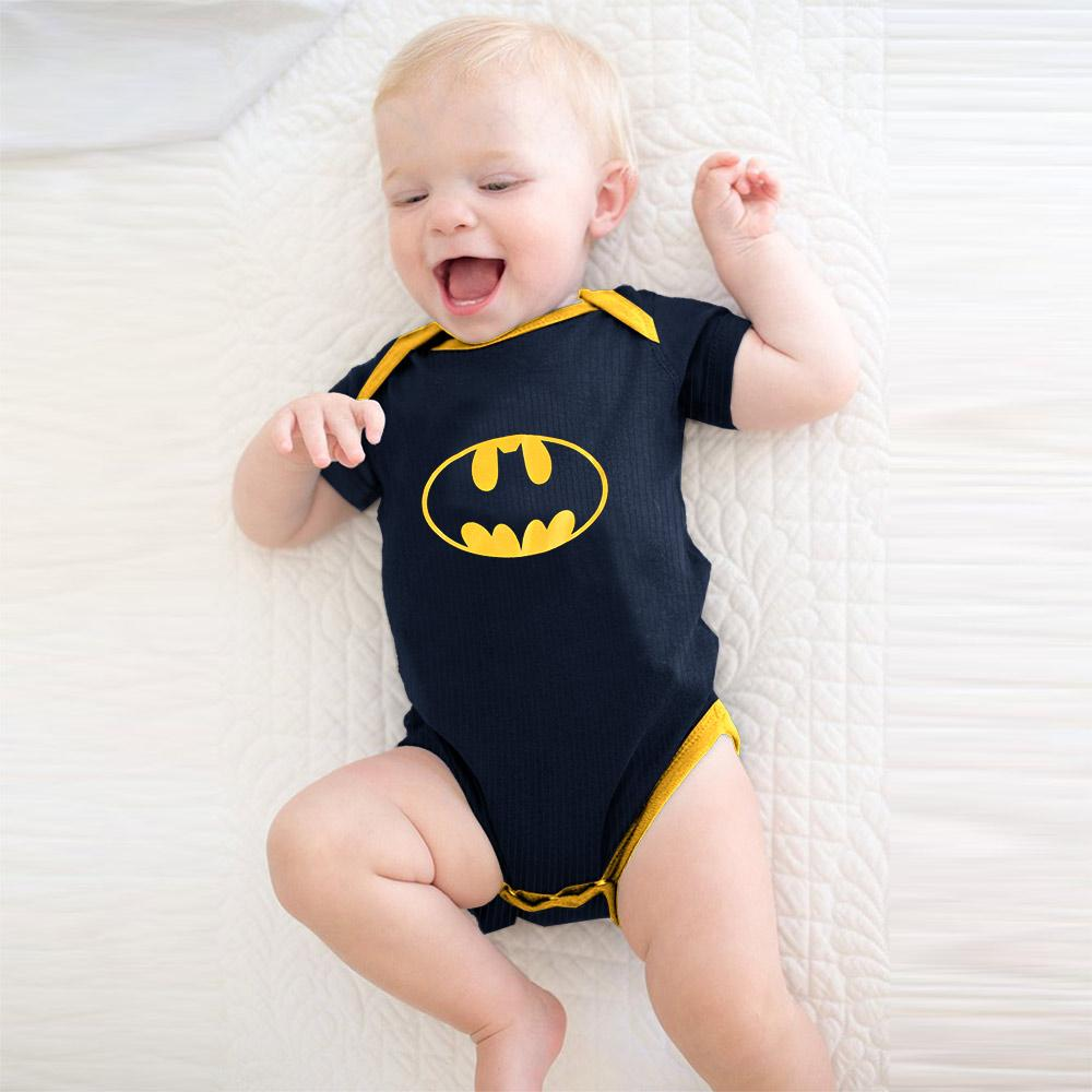 Polo Republica Batman Thermal Lined Baby Romper Babywear Polo Republica Navy Yellow 0-3 Months