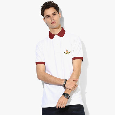 Polo Republica Selangor Polo Shirt Men's Polo Shirt Polo Republica White Burgundy S