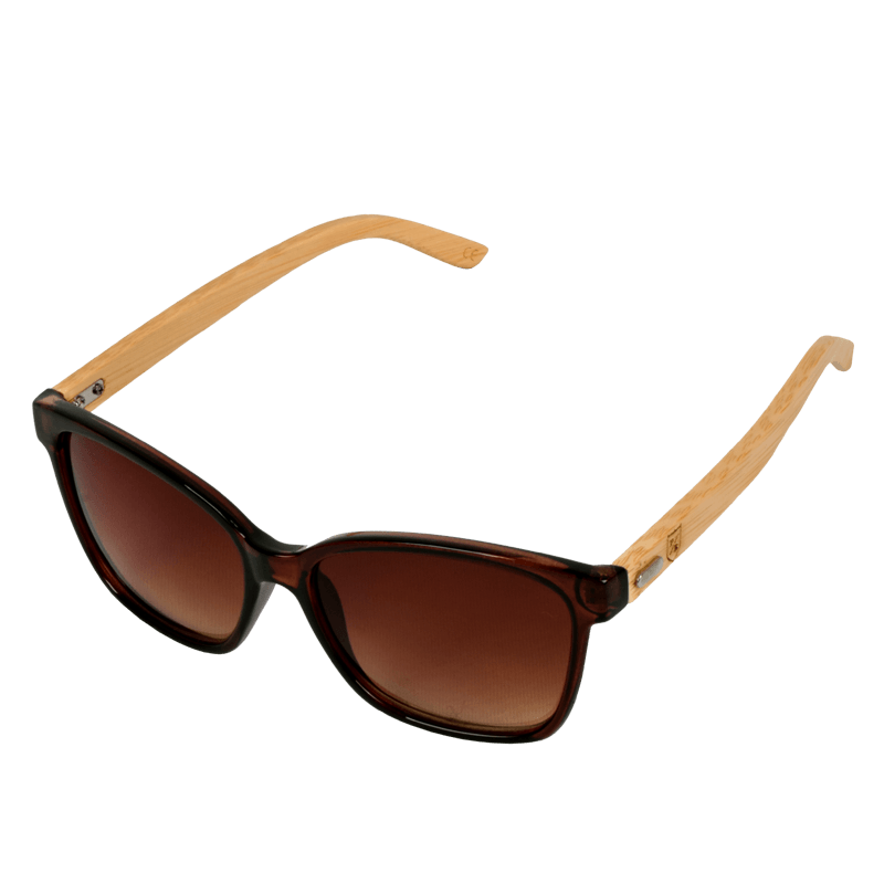 Polo Republica Laluma Bamboo Temple Clear Brown Frame Gradient Brown Sunglasses - ExportLeftovers.com