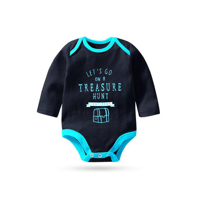 Polo Republica Let's Go On Treasure Hunt Pique Baby Romper Babywear Polo Republica Navy Sky Blue 0-3 Months