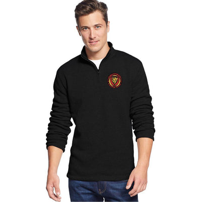 Polo Republica Athletics League Adelaide 1/4 Zipper Neck Sweat Shirt Men's Sweat Shirt Polo Republica Black S
