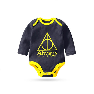 Polo Republica Always Smile Thermal Lined Long Sleeve Baby Romper Babywear Polo Republica Navy Yellow 0-3 Months