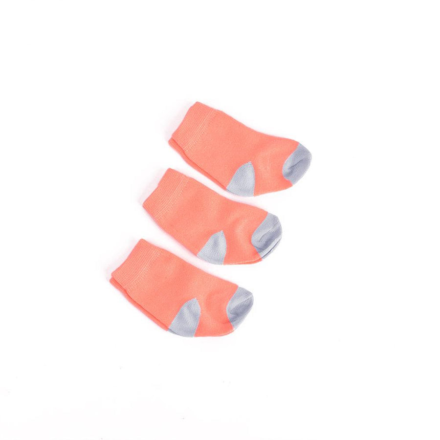 Mouzay Newborn Baby Cute Three Pairs Socks