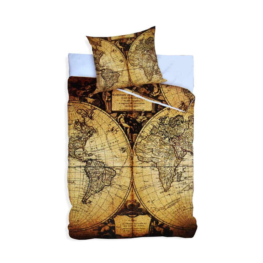 Carbotex Home Line Young  Map Single Quilt Cover - ExportLeftovers.com