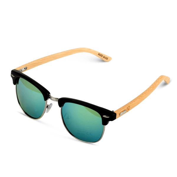 Polo Republica (1039-1) Black Propito Bamboo Temple Sunglasses - ExportLeftovers.com
