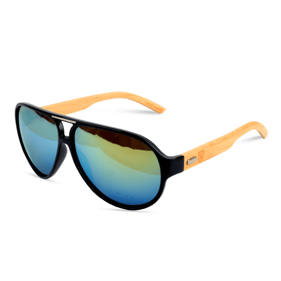 Polo Republica Vastana Aviator (1027M-3) Bamboo Temple Sunglasses - ExportLeftovers.com