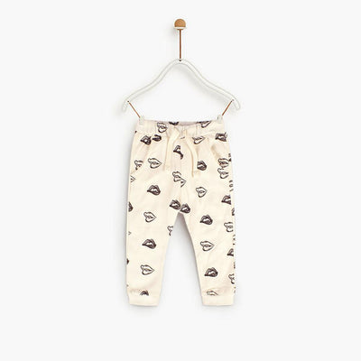 ZR Zaoyang Plush Text Kids Terry Jogger Pants Boy's Trousers First Choice 3-6 Months