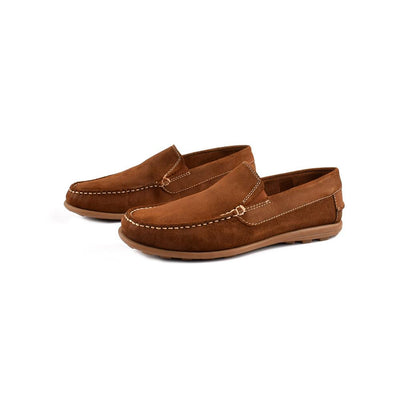 Onfire Suede Leather Tan Loafer Shoes Men's Shoes MB Traders Tan EUR 44