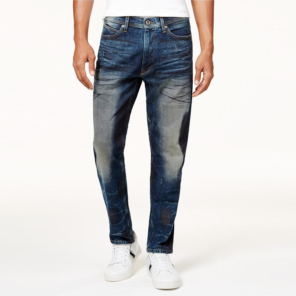 SNJ Athlete Relaxed Tapered-Fit Stretch Denim Men's Denim SRK 32 30
