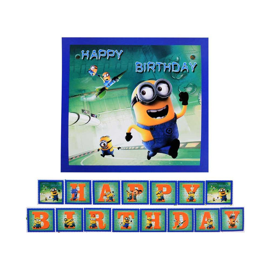 SK Birthday Flags Minions - ExportLeftovers.com