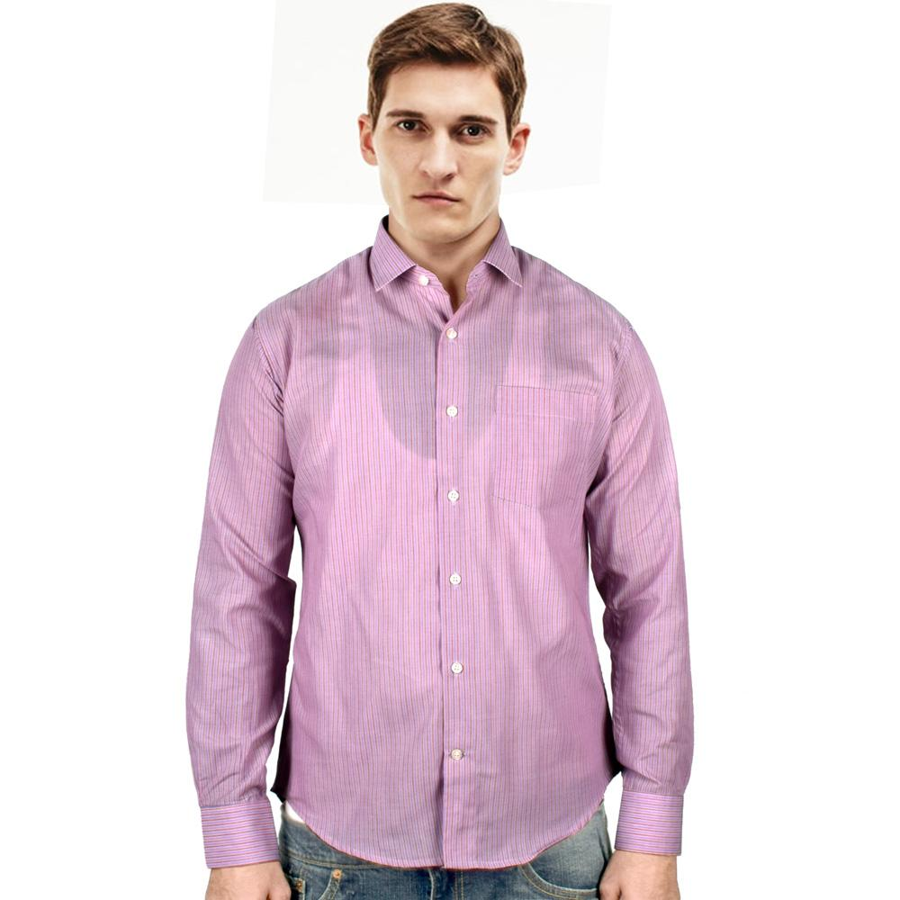 Echo Pinkies Long Sleeve Formal Shirt Men's Formal Shirts YRA S