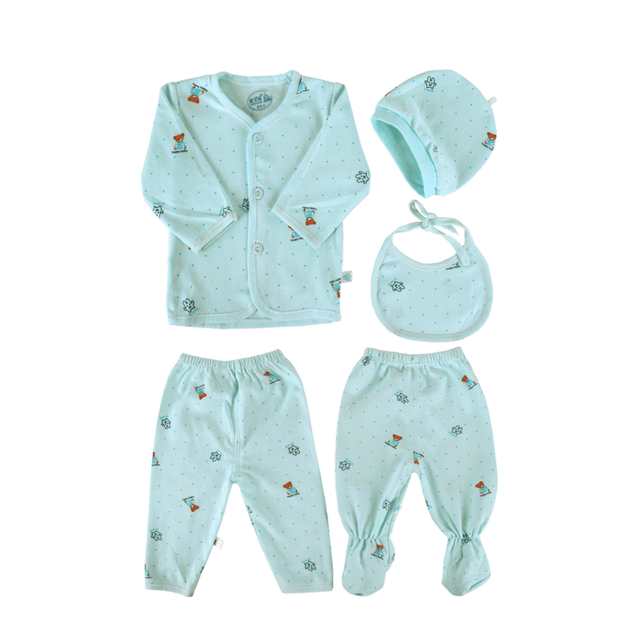 Cola Oubeilong Turquoise 5 Piece Suit Set - ExportLeftovers.com