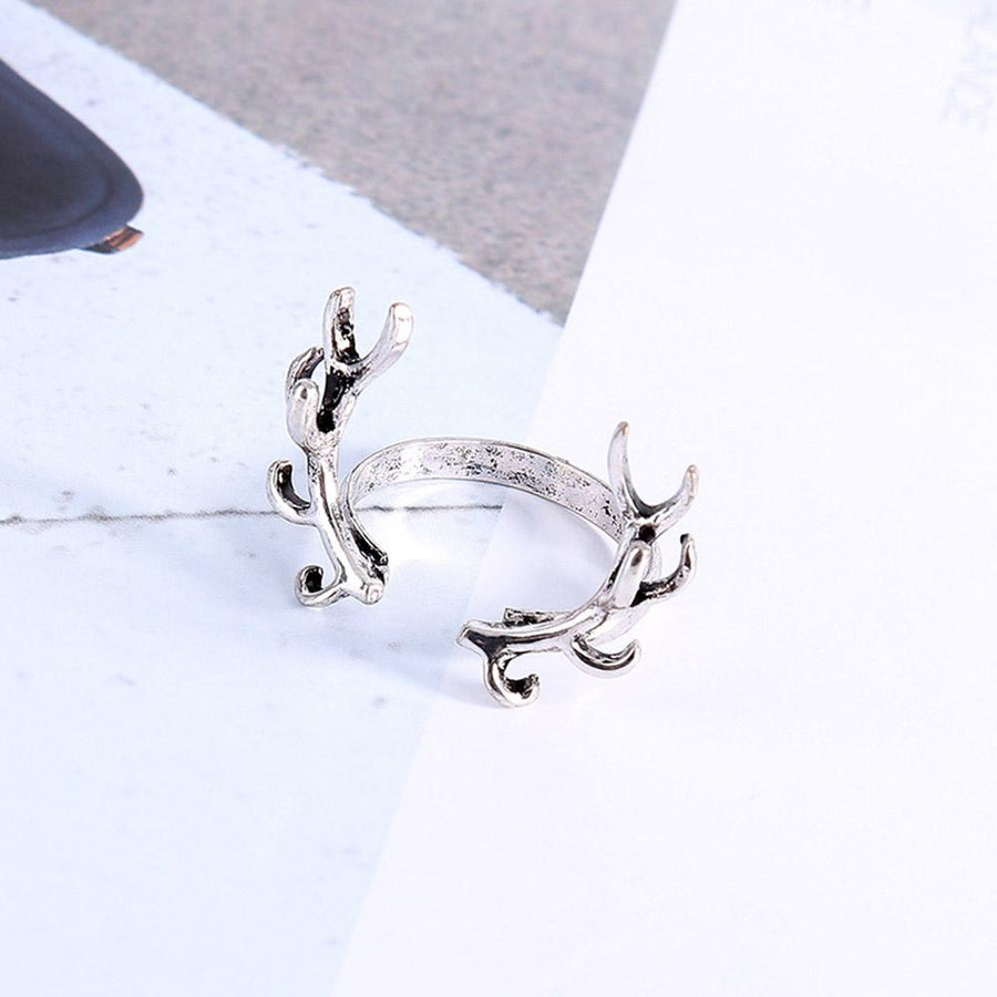 Hot Vintage Personality Antlers Branches Open Ring