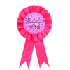 SK Dark Pink Birthday Girl Ribbon Badge - ExportLeftovers.com
