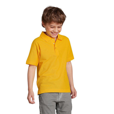 Totga Short Sleeve Polo Shirt Boy's Polo Shirt Totga Sunny Yellow 4