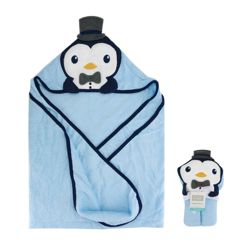 Luvable Friends Animal Face Hooded Towel Towel MB Traders