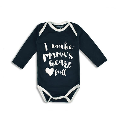 Polo Republica Mama's Heart Full Long Sleeve Baby Romper Babywear Polo Republica 0-3 Months