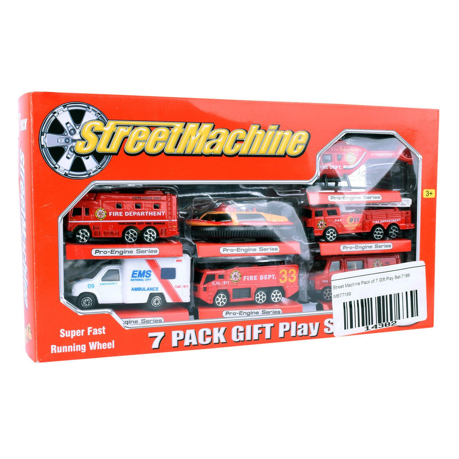 Street Machine Pack of 7 Gift Play Set - ExportLeftovers.com