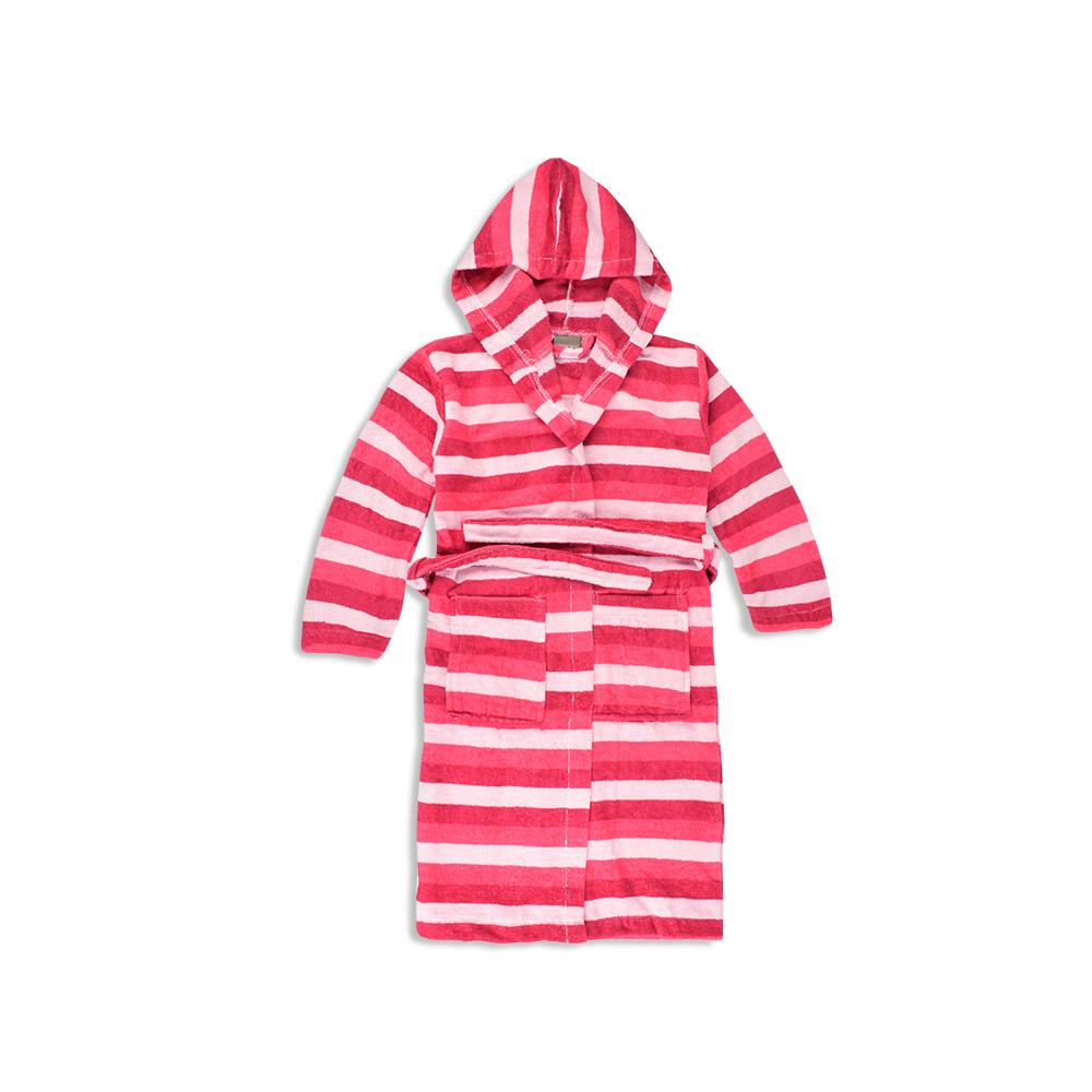 Alive Kids Laixi Striper Hooded Bathrobe Bathrobe First Choice One Size