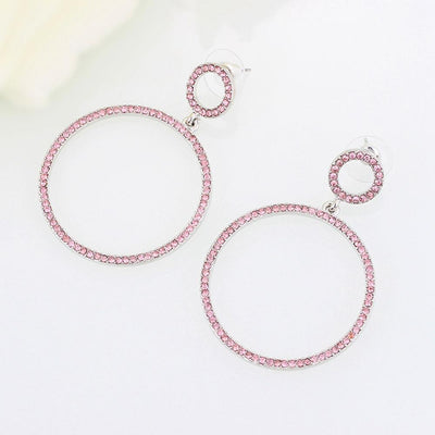 Mecresh Crystal Round Drop Earring for Women