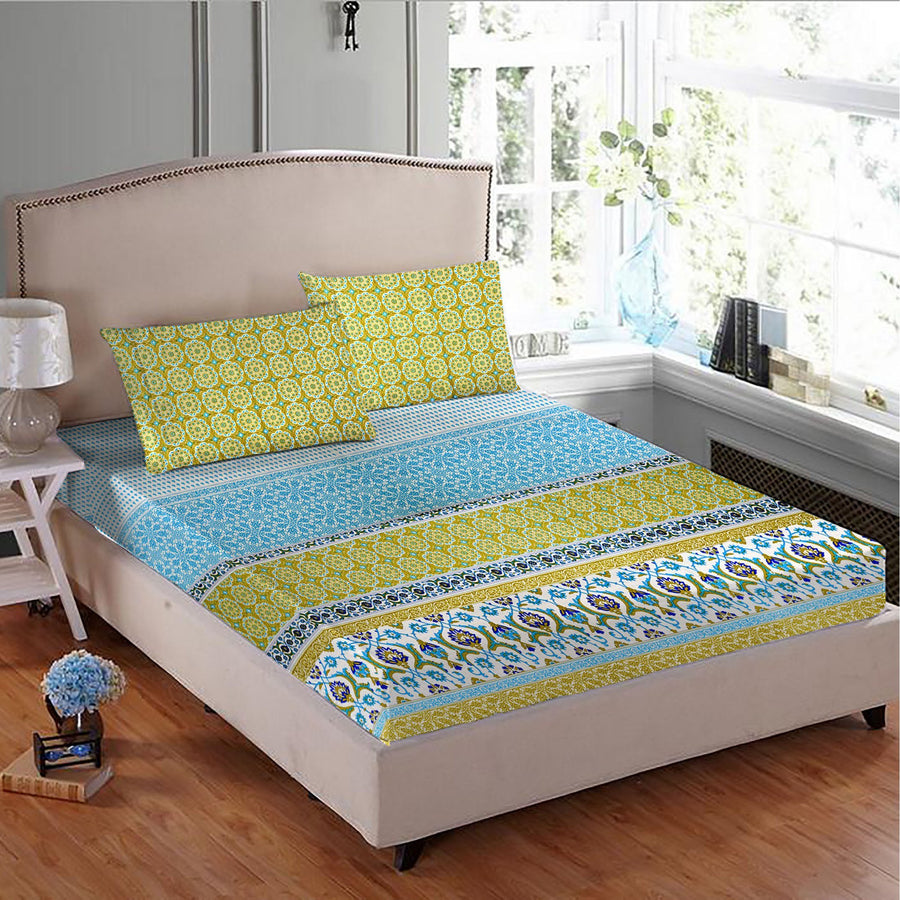 SD Xiom Double Bed Sheet & Pillow Set - ExportLeftovers.com