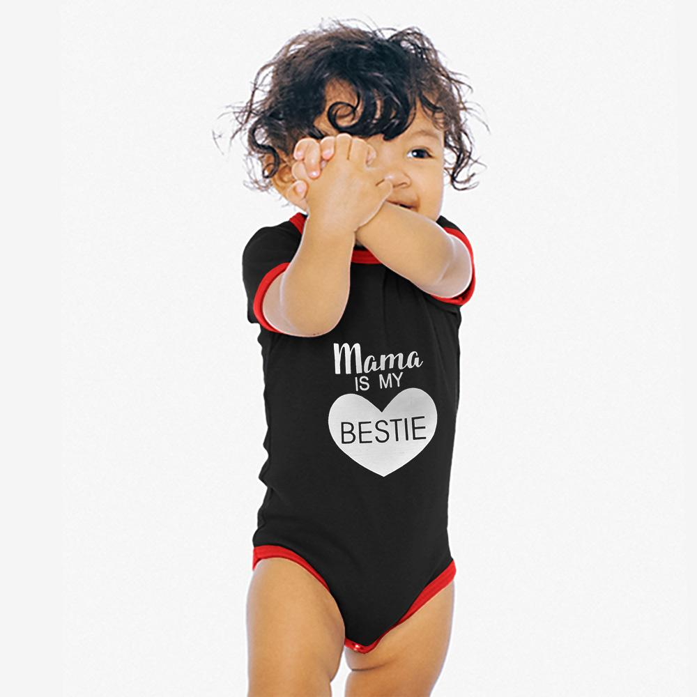 Polo Republica Bestie Baby Romper Babywear Polo Republica Black Red 0-3 Months