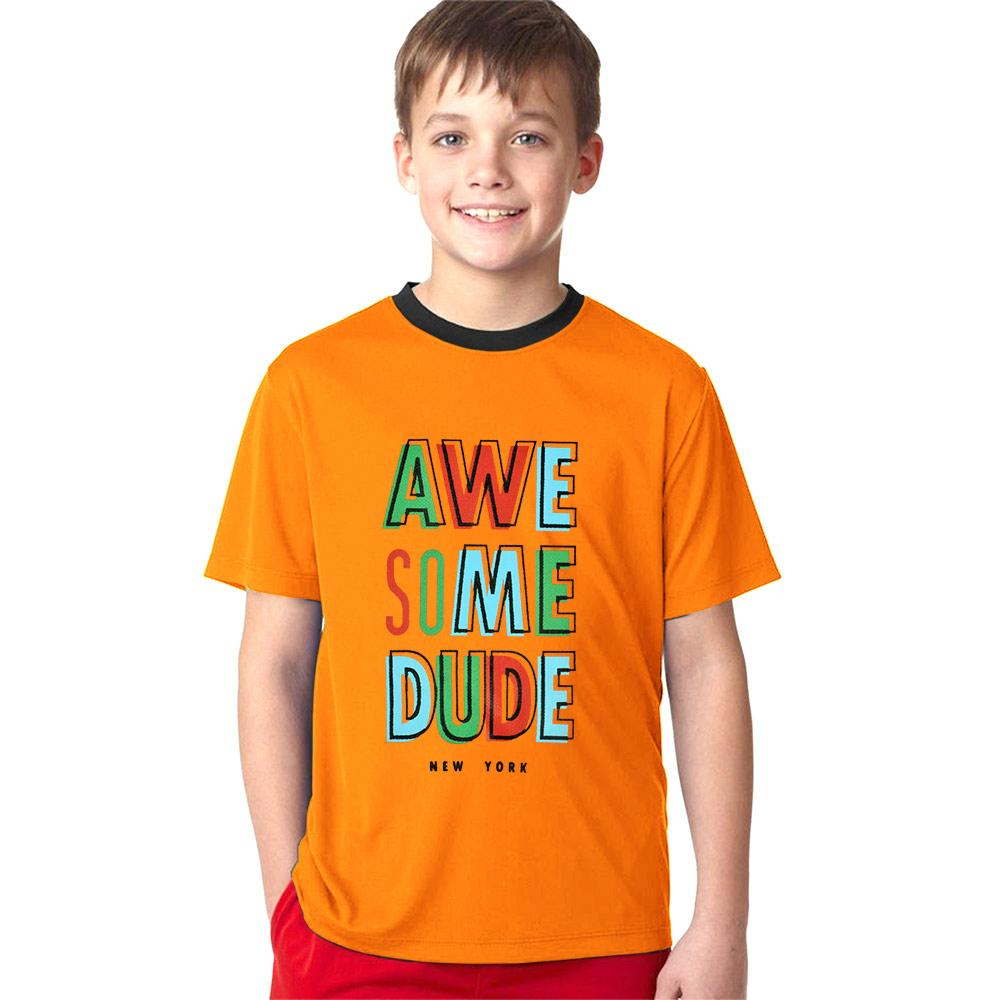 Polo Republica Awesome Dude Ringer Tee Shirt Boy's Tee Shirt Polo Republica Orange 2 Years