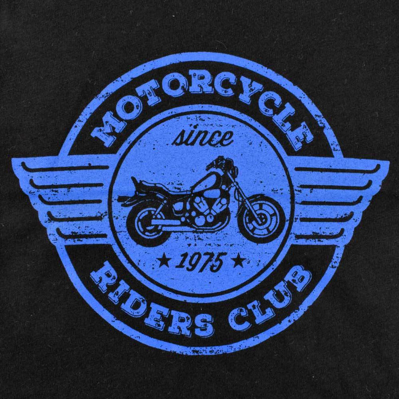 HM Motor Cycle Ride Club EST 1975 Kids Tee Shirt Boy's Tee Shirt First Choice Black 6-9 Months