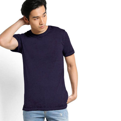 TMN Burnout Longline Crew Neck Tee Shirt
