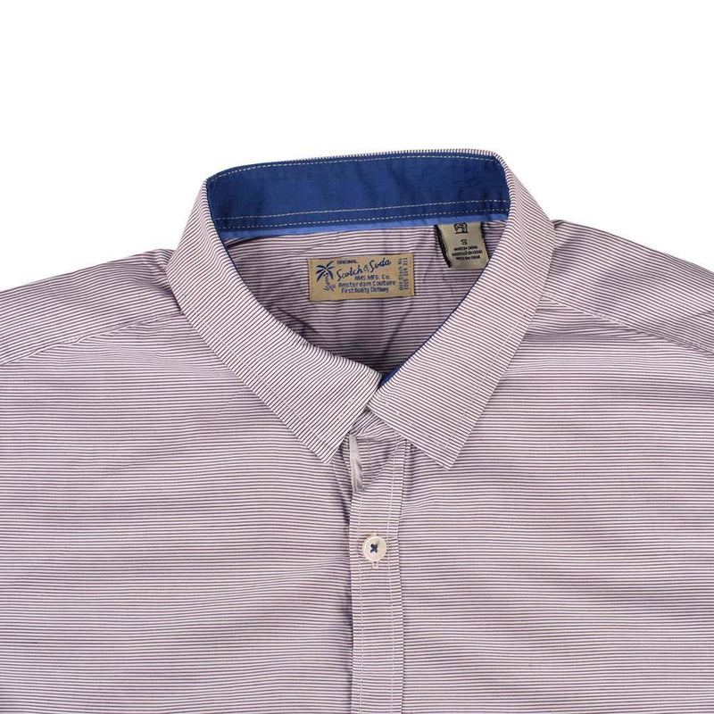 Scotch N Soda Pinstripe Casual Shirt Men's Casual Shirt AGZ S