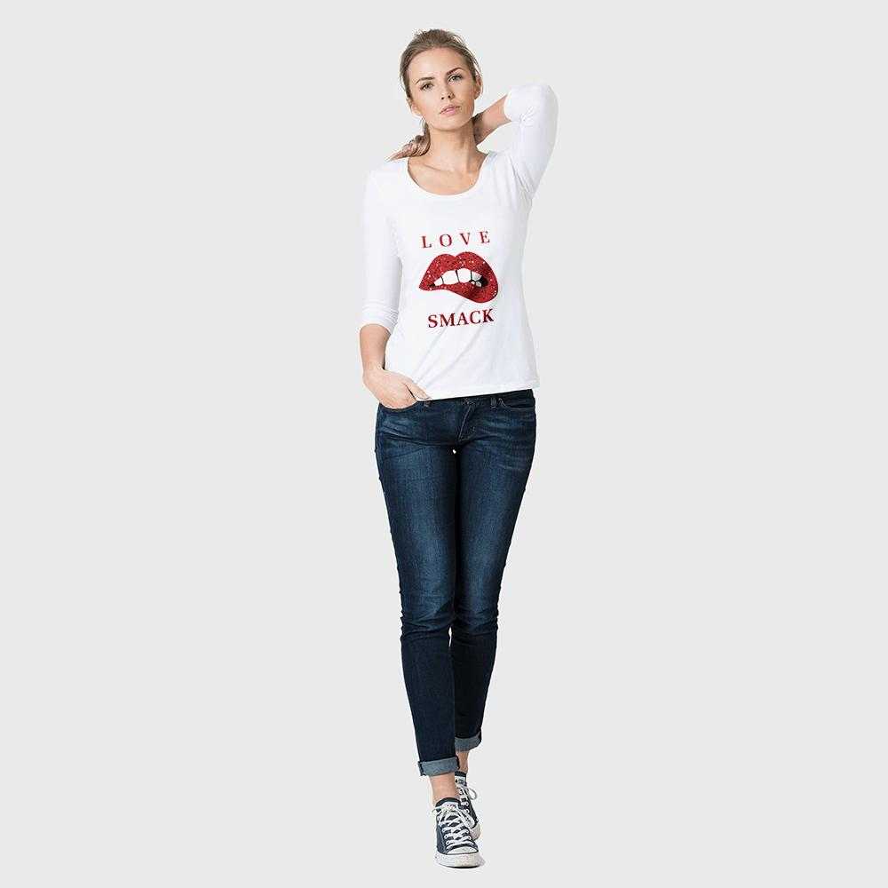 BYD Wonka Love Smack Long Sleeve Tee Shirt Women's Tee Shirt Image