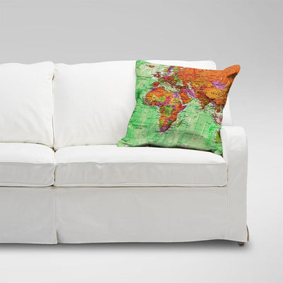 Araish Globe Printed Cushion Cover